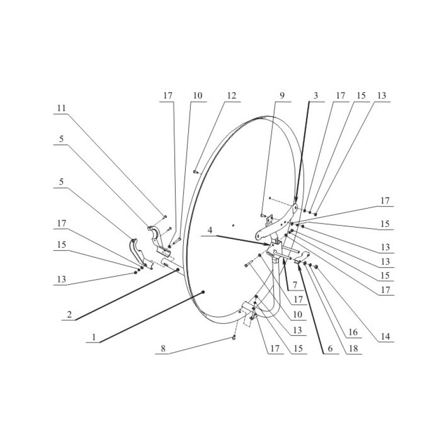 Крепление триколор схема